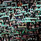 Celtic's fans during the UEFA Europa League match with RB Leipzig (Jane Barlow/PA)