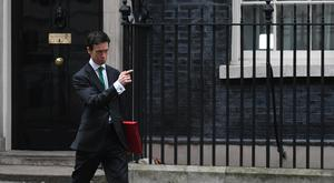 Rory Stewart, who has moved from the role as Africa minister to the Ministry of Justice, leaving 10 Downing Street, London, as Theresa May continues her Cabinet reshuffle.