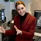 The Duchess of Cambridge visited a UCL developmental neuroscience lab in central London (Arthur Edwards/The Sun/PA)