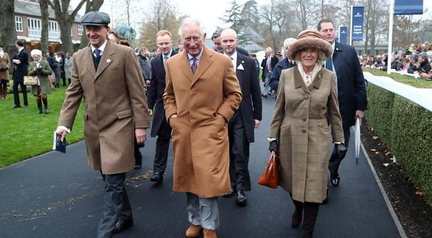 The Prince of Wales and Duchess of Cornwall attend the Prince's Countryside Fund Raceday at Ascot (Gareth Fuller/PA)