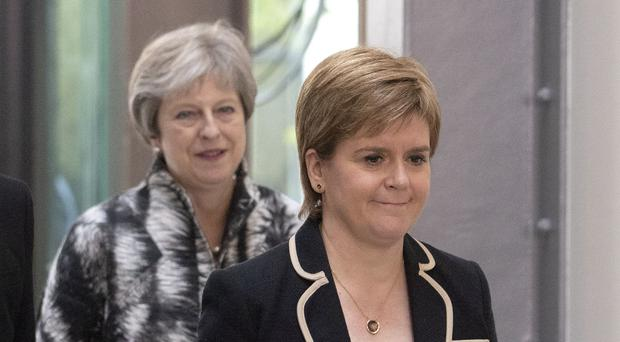 Nicola Sturgeon challenged Theresa Mann for a discussion on the UK government's Brekett Proposals (Jane Barlow / PA).