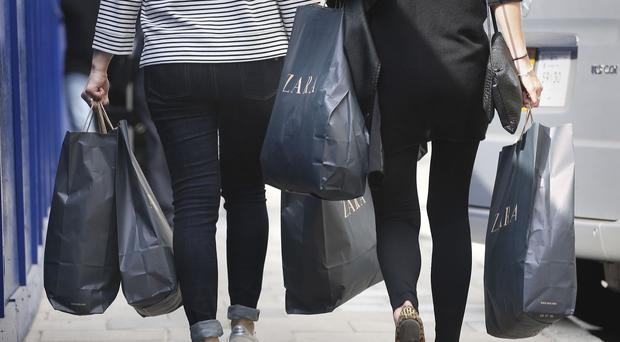 'Against a UK high street average of -6.8%, Northern Ireland was the only region to record an increase for the seven days, which includes Black Friday (November 24)' (stock photo)