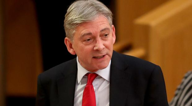 Scottish Labour leader Richard Leonard during First Minister's Questions at the Scottish Parliament in Edinburgh.