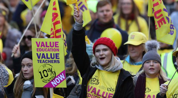 The teachers' side of a negotiating committee on teachers' pay has warned the likelihood of strike action is increasing (Andrew Milligan/PA)