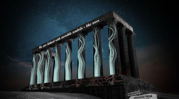 Message from the Skies will run from January 1 to 15 (Edinburgh's Hogmanay/PA)