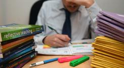Just over half of teachers surveyed said their mental health had been affected by the pressures of the job (PA Images)
