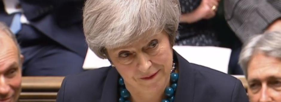 """Prime Minister Theresa May making a statement in the House of Commons, London, where she told MPs that tomorrow's """"meaningful vote"""" on her Brexit deal had been deferred."""