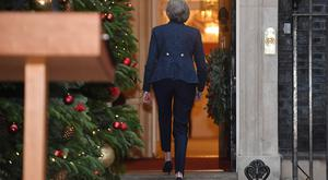 Prime Minister Theresa May walks back to Number 10 after making a statement in Downing Street (Stefan Rousseau/PA)