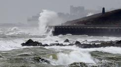 The Met Office has warned that flooding of some homes and businesses is possible with a weather warning in place for Saturday (Gareth Fuller/PA)
