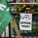 The RMT union is picketing at some stations (PA)