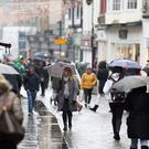 High street footfall for Saturday was down 9.1% on the same time last year, experts said (Andrew Matthews/PA)