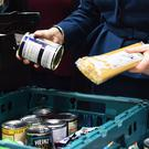File photo dated 17/01/18 of goods at a food bank. Figures from the Trussell Trust reveal problems with Universal Credit are driving an increase in the number of emergency supplies handed out at food banks.