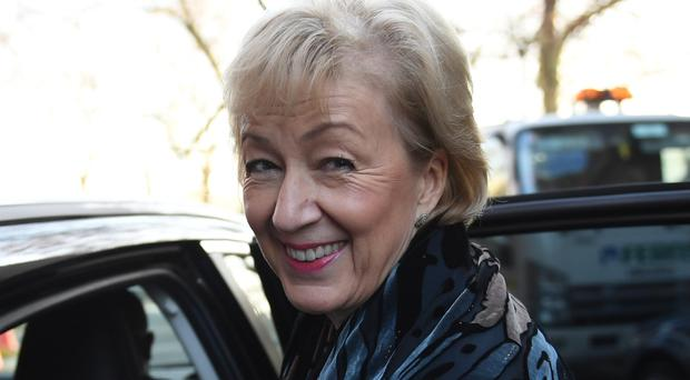 Leader of the House of Commons Andrea Leadsom warned that unless MPs voted for a Brexit deal, no-deal was the default result (Stefan Rousseau/PA)