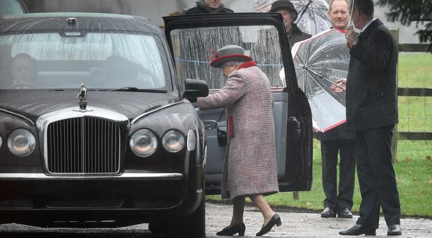 The Queen leaves after attending the morning church service at St Mary Magdalene Church in Sandringham (Joe Giddens/PA)