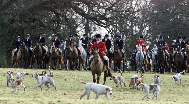 A hunt in the Borders, pre-ban (Owen Humphreys/PA)