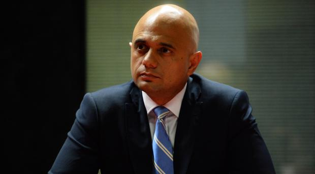Sajid Javid faced criticism over a Twitter message in October about 'sick Asian paedophiles' (Kirsty O'Connor/PA)