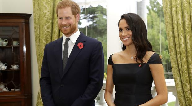 The Duke and Duchess of Sussex at Government House in Wellington, New Zealand (Kirsty Wigglesworth/PA)