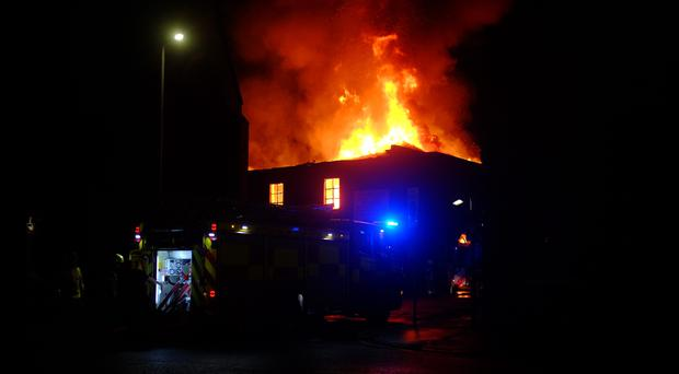 The fire is said to have started at around 5pm (James Semple/PA)