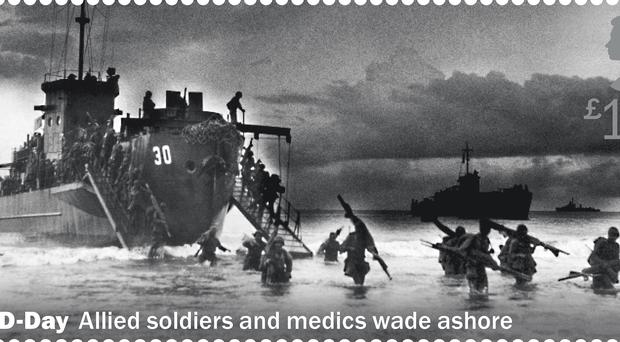 One of a set of 11 stamps being issued in 2019 to mark the 75th anniversary of the D-Day landings (Royal Mail)