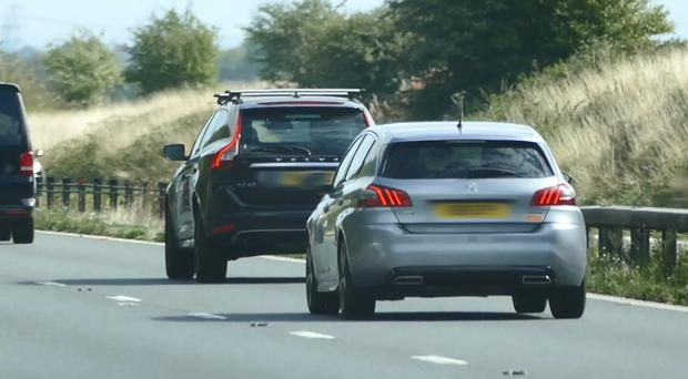 Driving too slow for the conditions can lead to tailgating (Highways England/PA)