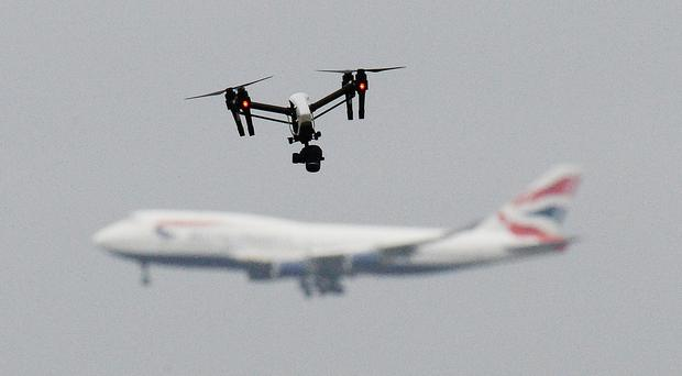 There was chaos at Gatwick when sightings of drones were reported (John Stillwell/PA)