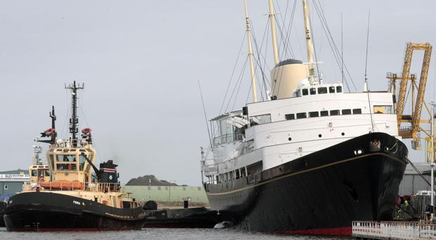 The Royal Yacht Britannia, in Edinburgh (David Cheskin/PA)