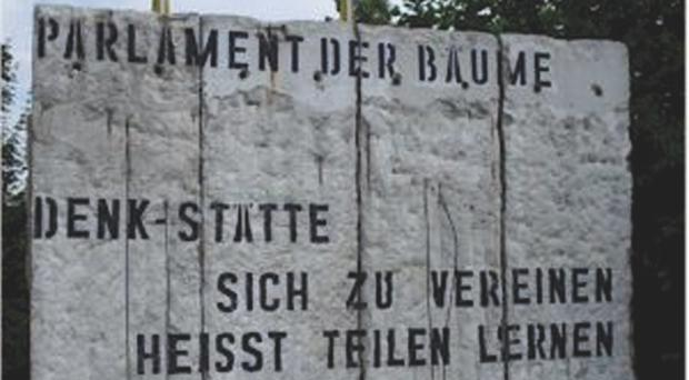 Sections of the Berlin Wall will go up for sale in West Sussex in March. Summers Place Auctions/PA