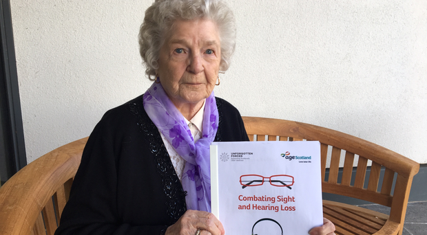 Isa Scott, 88, from Paisley, who has been using the Scottish War Blinded's Hawkhead Centre (Scottish War Blinded/PA)