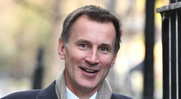 Foreign Secretary Jeremy Hunt said the Foreign Office is providing support to Paul Whelan (Dominic Lipinski/PA)