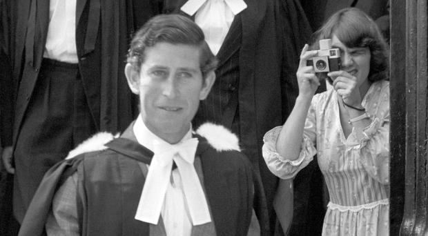 The Prince of Wales after receiving his Master of Arts degree at Cambridge University (PA)