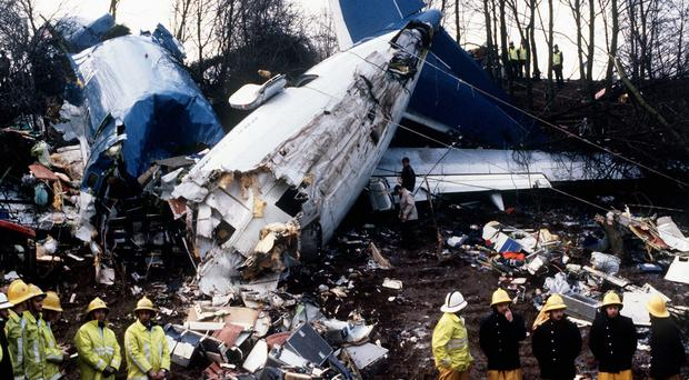 The Boeing 737 crashed on the approach to East Midlands airport, after suffering engine trouble on the night of January 8 1989 (PA)
