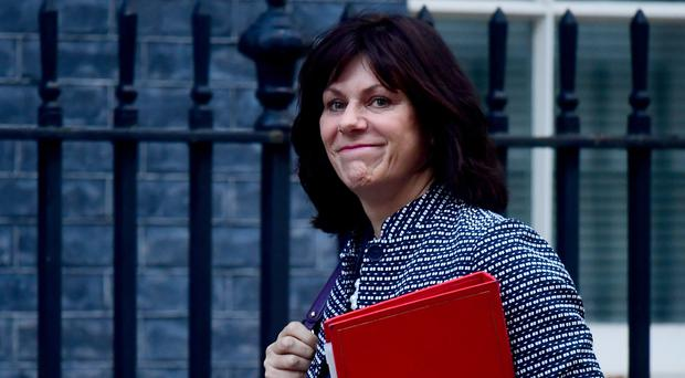 Claire Perry MP arrives in Downing Street, London, for a Cabinet meeting.