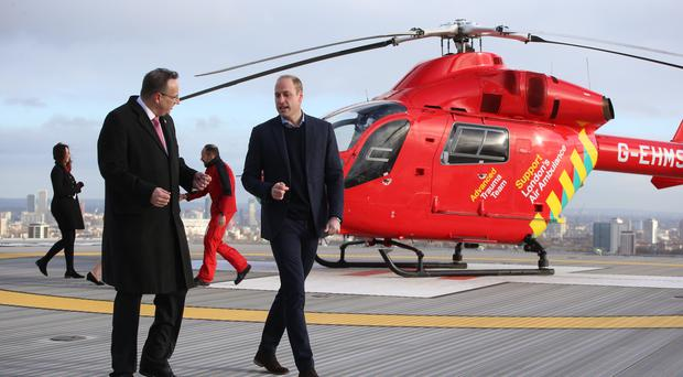 The Duke of Cambridge arrives for a visit to the Royal London Hospital (Ian Vogler/Daily Mirror)
