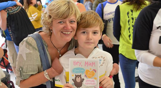 Corinne Hutton with her son Rory, 10 (Finding Your Feet/PA)