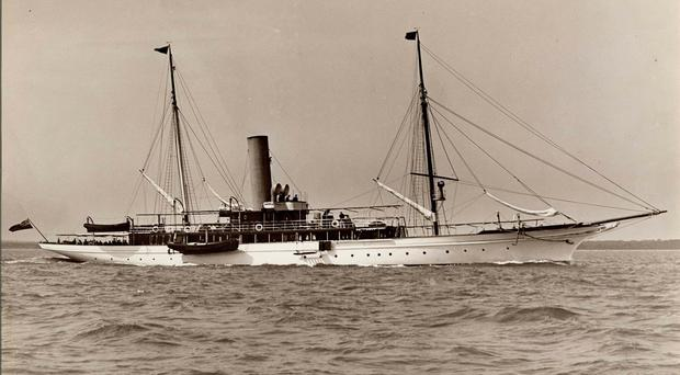 The HMY Iolaire (then called the Almathea) in 1908 prior to going into service at the Stornoway Naval Base (Lewis Museum Trust Collection/PA)