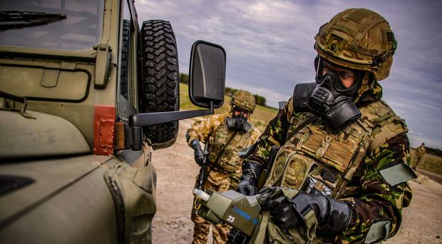 Members of Y Company, 45 Commando taking part in Exercise Toxic Dagger (LPhot Dean Nixon/MoD/Crown Copyright/PA)