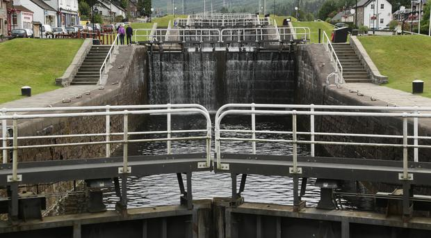 Locks on the Caledonian Canal will be replaced as part of the repair work (Yui Mok/PA)