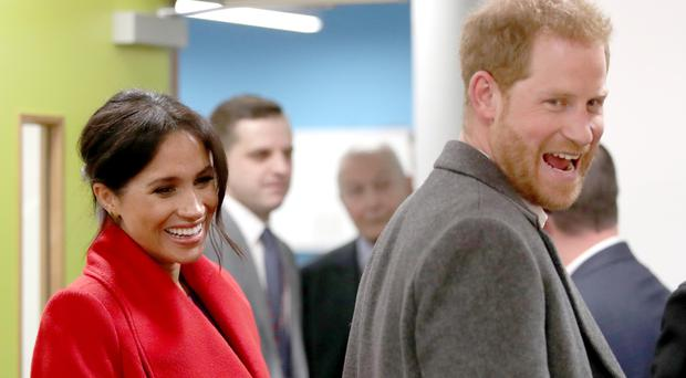 The Duke and Duchess of Sussex at the Hive, Wirral Youth Zone as part of a visit to Birkenhead.