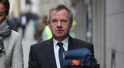 Pilot Andrew Hill, who was charged over the Shoreham Airshow crash, leaves the Old Bailey in London.