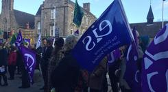 Scottish lecturers are striking amid a pay dispute (Tom Eden/PA)