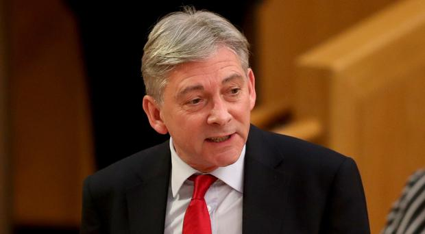 Richard Leonard discussed the economy during a debate at Holyrood (Jane Barlow/PA)