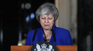 Prime Minister Theresa May speaking outside 10 Downing Street (Yui Mok/PA)