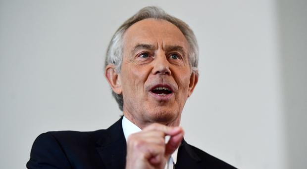 Former prime minister Tony Blair (Victoria Jones/PA)