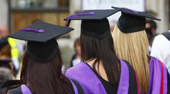 A record number of first class degrees were awarded last year (Chris Ison/PA)