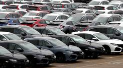 New car sales declined by 7% in 2018 (Andrew Matthews/PA)