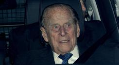 The Duke of Edinburgh was shaken but unhurt after the crash (Aaron Chown/PA)