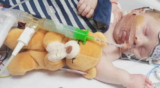Undated handout photo issued by GoFundMe of Carter Cookson, who suffered three cardiac arrests shortly after being born. The baby boy's parents have made a desperate appeal to find him a new heart, amid fears he may have just three days to live.