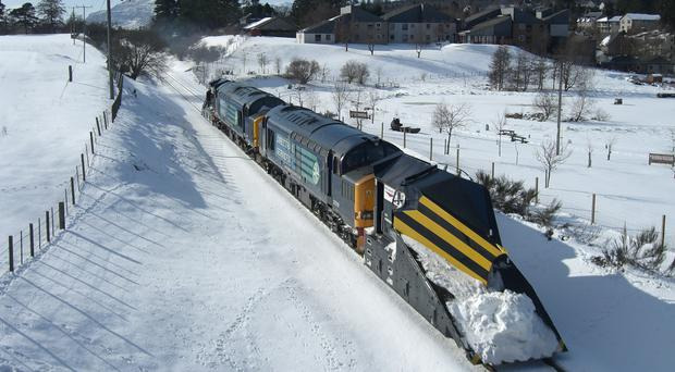 Snow flurries are forecast to hit parts of the UK (Network Rail/PA)