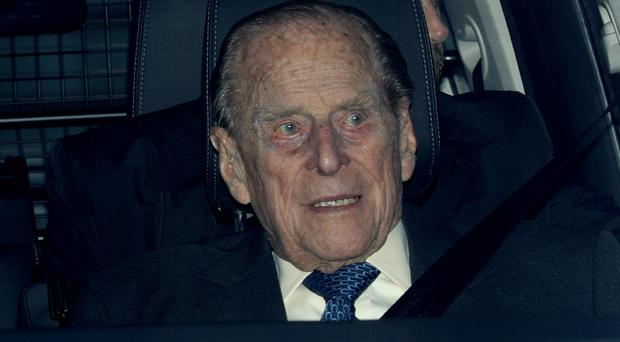 The Duke of Edinburgh leaving the Queen's Christmas lunch at Buckingham Palace, London in 2018 (Aaron Chown/PA)