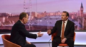 Liam Fox, speaking to host Andrew Marr, said the EU needed to be aware a no-deal Brexit was 'a real possibility' (Jeff Overs/PA)